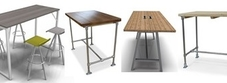 Bench Style Poseur Tables