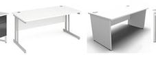 White Rectangular Desks