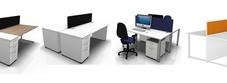 Two Person White Desks