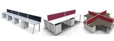 Four Person Bench Desks