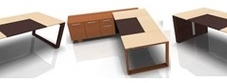 Executive Desks with Leather Tops