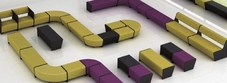 Magnes Anti Bacterial Modular Seating