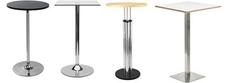 Chrome Poseur Tables