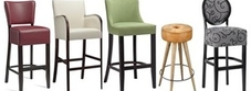 Leather Wooden Bar Stools
