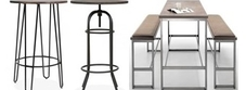 Retro Bar Height Tables
