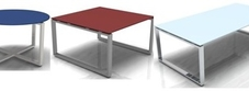 Loop Glass Tables and Desks