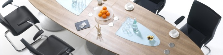 Tulip Boardroom Tables in 15 colours
