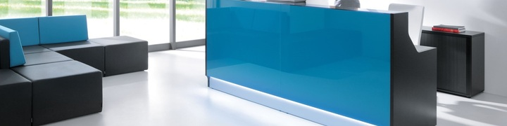 Glass Front Reception Desks