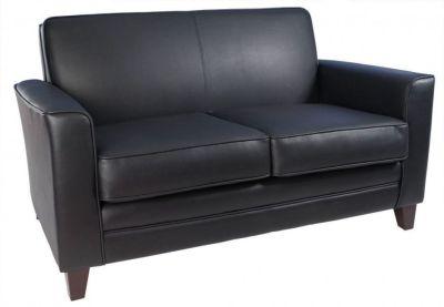 Black Leather Sofas - Cardiff - 1 seater sofa - Online Reality