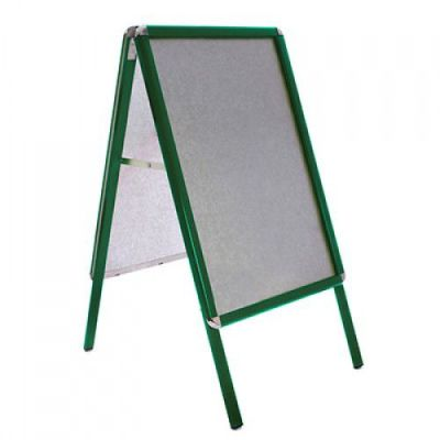 Premier A Frame Pavement Sign With A Green Frame