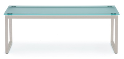 Hub Glass Coffee Table Silver Frame
