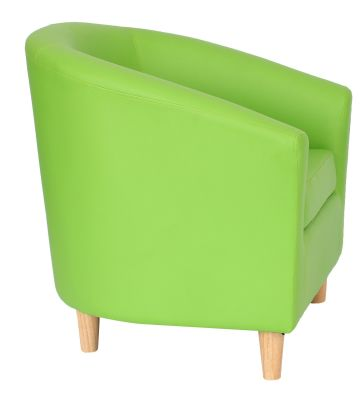 Tritiun Tub Chairs With Wooden Feet Side View