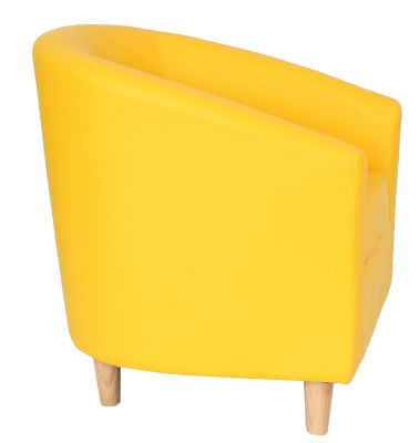 Tritium Tub Chairs In Yellow Side View