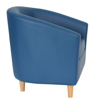 Tritium Tub Chairs Side View Wooden Feet