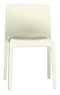 POp Chair In Cream Front View