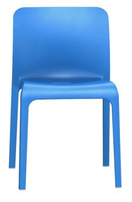 POp Chair In Sky Blue Front View