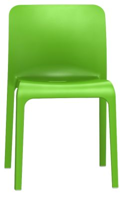 POp Chair In Yellow Green Front View