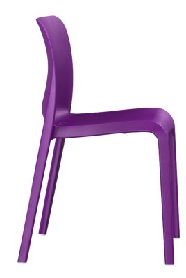 POp Chair In Lilac Blue Side View