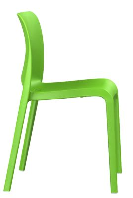 POp Chair In Yellow Green Side View