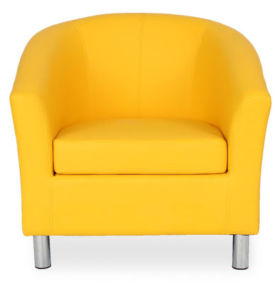 Tritium Tub Chair In Yellow Face View