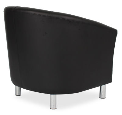 Tritium Tub Chair In Black Back Side View