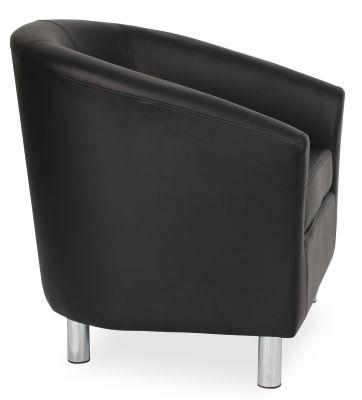 Tritium Tub Chair In Black Side View