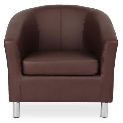 Tritium Tub Chair In Brown Face View