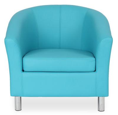 Tritium Tub Chair In Light Blue Face View