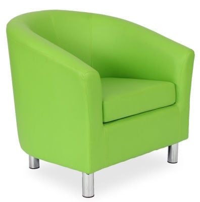 Tritium Tub Chair In Lime Green 45 Side View