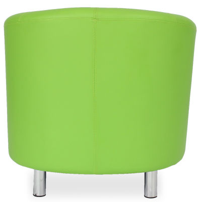 Tritium Tub Chair In Lime Green Back View