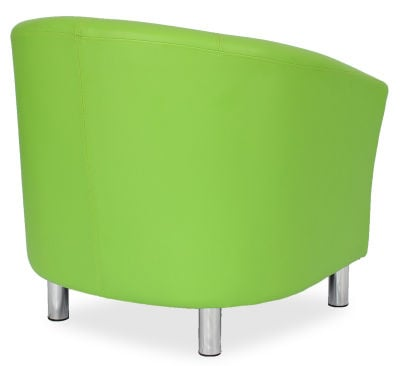 Tritium Tub Chair In Lime Green Side Back View