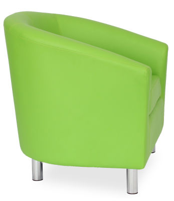Tritium Tub Chair In Lime Green Side View