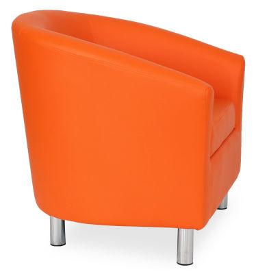 Tritium Tub Chair In Orange 45 Side View