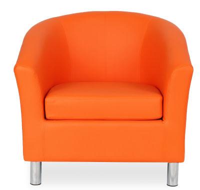 Tritium Tub Chair In Orange Face View