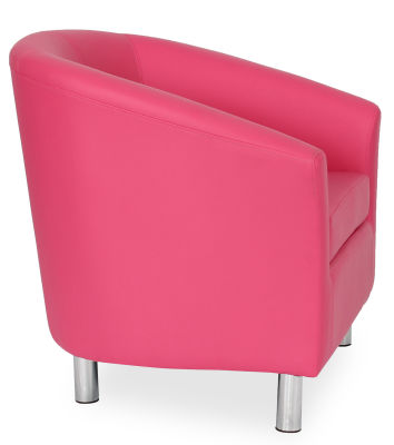 Tritium Tub Chair In Pink 45 Side View