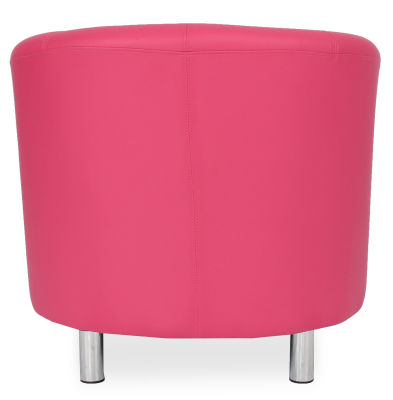 Tritium Tub Chair In Pink Back View
