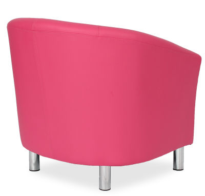 Tritium Tub Chair In Pink Side Back View