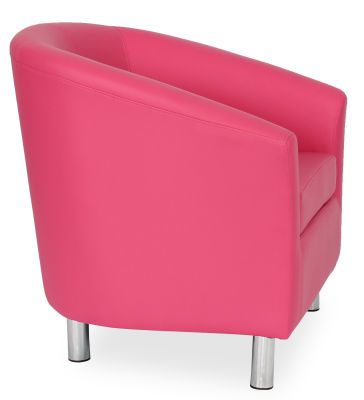 Tritium Tub Chair In Pink Side View