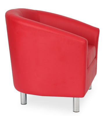 Tritium Tub Chair In Red Side View