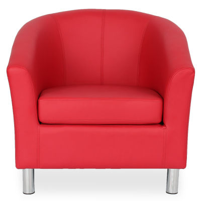 Tritium Tub Chair In Red Face View