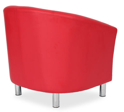 Tritium Tub Chair In Red Side Back View