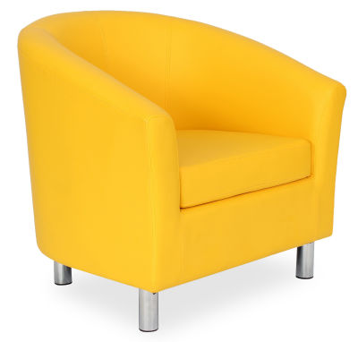 Tritium Tub Chair In Yellow 45 Side View
