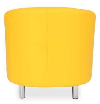 Tritium Tub Chair In Yellow Back View