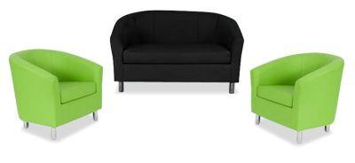 Tritium NEXT DAY Coloured Leather Sofas Bundle 2 Green