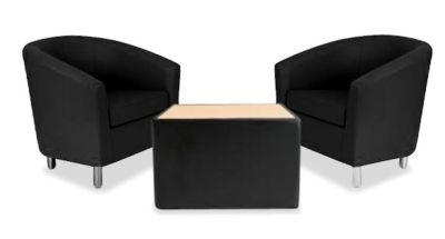 Tritium Tub Chair Bundle Deal Black
