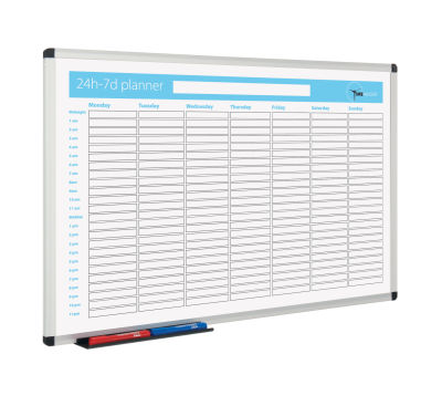 Metro Whiteboard Planner 24h 7 Day View