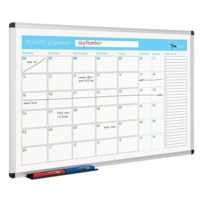 Metro Whiteboard Planner Month View
