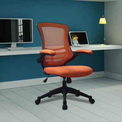 Saffron Executive Mesh Task Chairs Orange Mood View