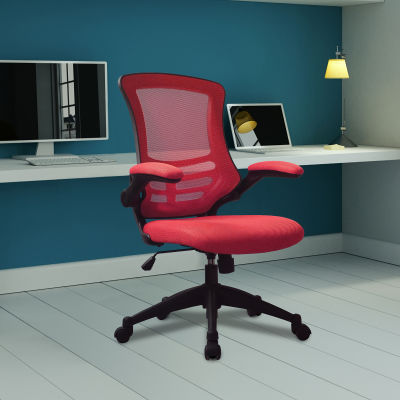 Saffron Executive Mesh Task Chairs Red Mood View