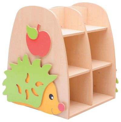 HILO Double Sided Hedgehog Bookcase Angled View
